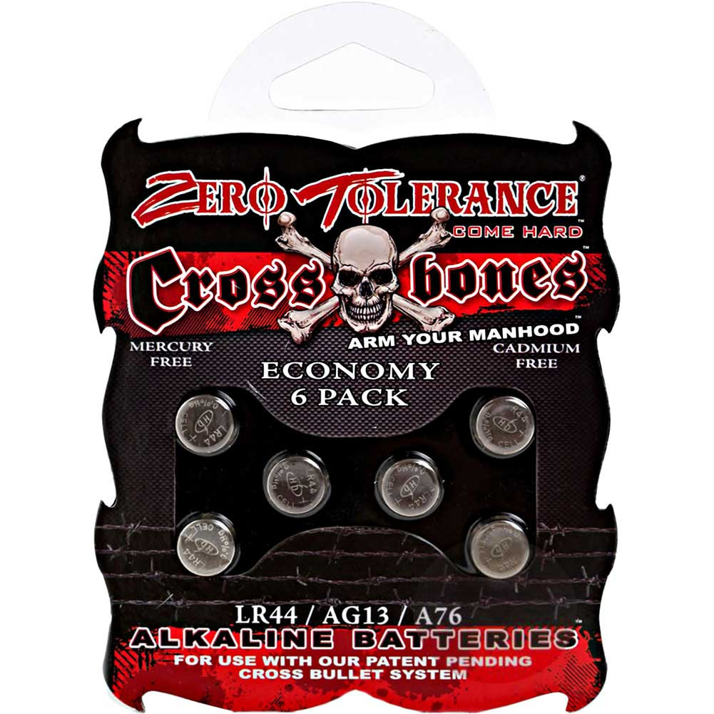 Evolved Crossbones Lr44 Alkaine Batteries Economy 6 Piece Pack - View #1