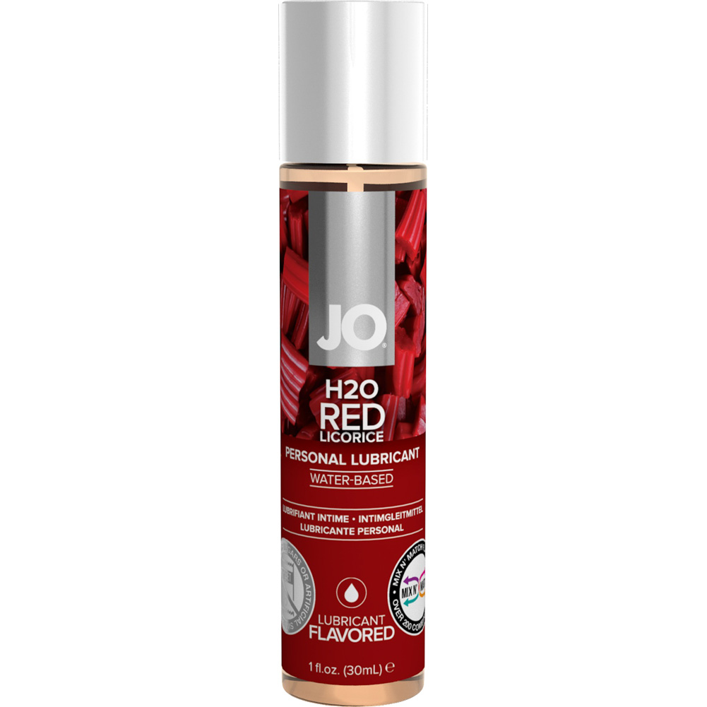 System JO H20 Flavored Lubricant Water-Based Red Licorice 1 Oz 12 Per Display - View #1