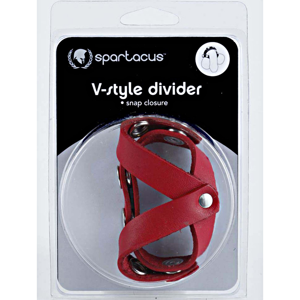 Spartacus Leather Redline Oiltan V Style Ball Divider Red - View #4