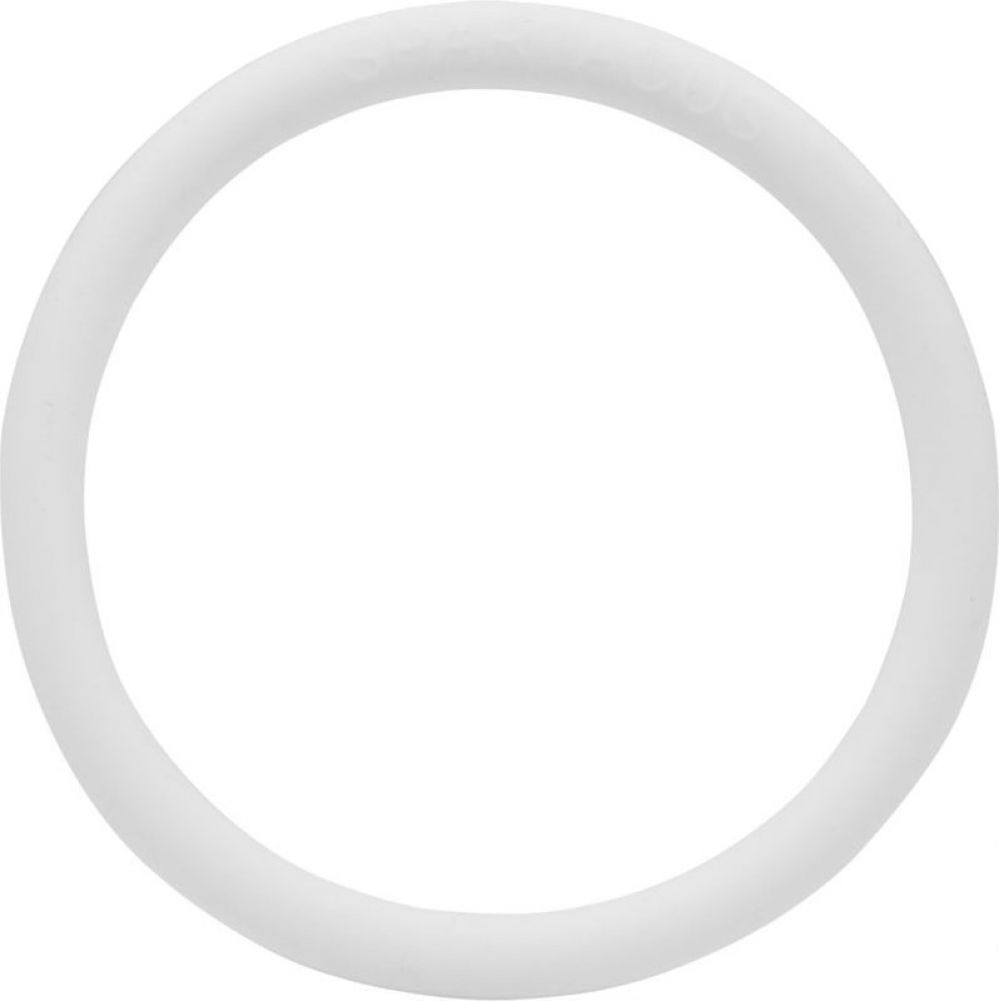 "Spartacus Soft Rubber Cock Ring 2"" White - View #2"