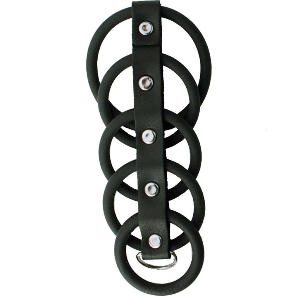 Spartacus Gates of Hell 5 Ring Rubber Gates Cockcage Black - View #2