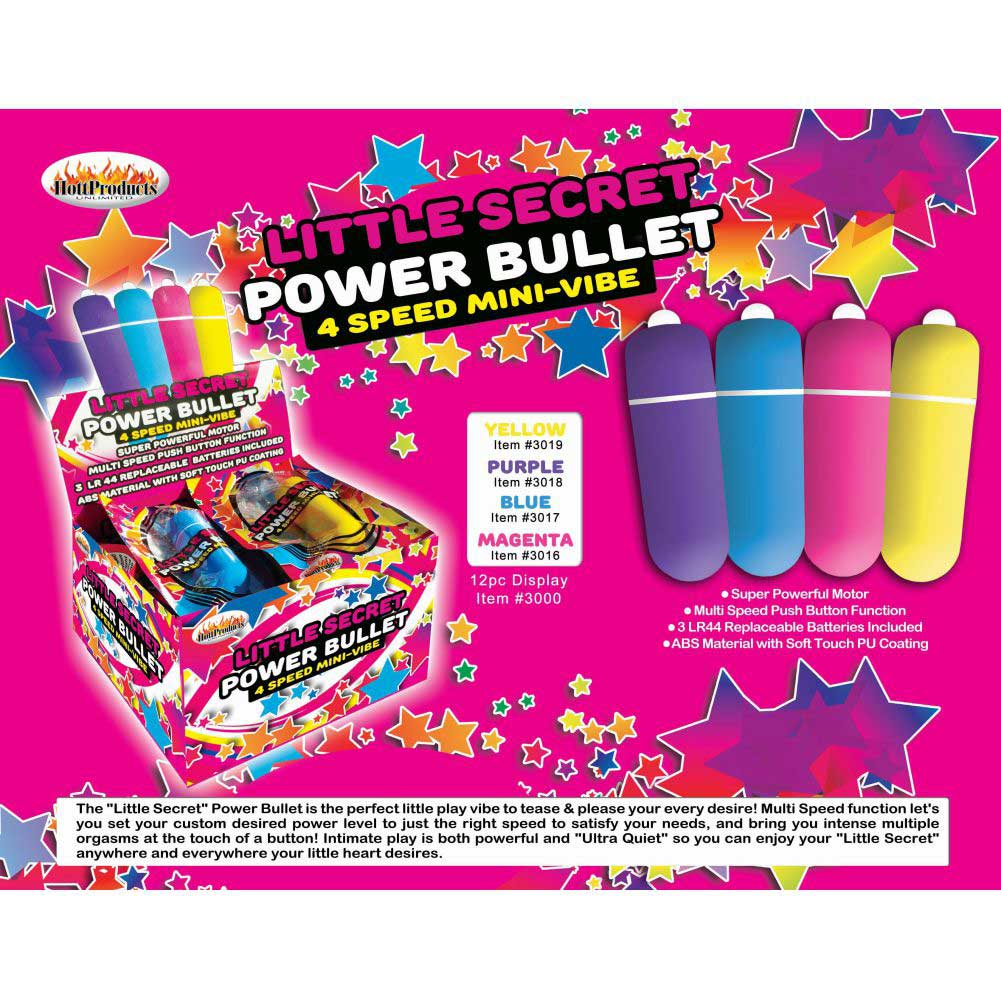 Hott Products Little Secret Power Bullet Counter Display 12 Count - View #3