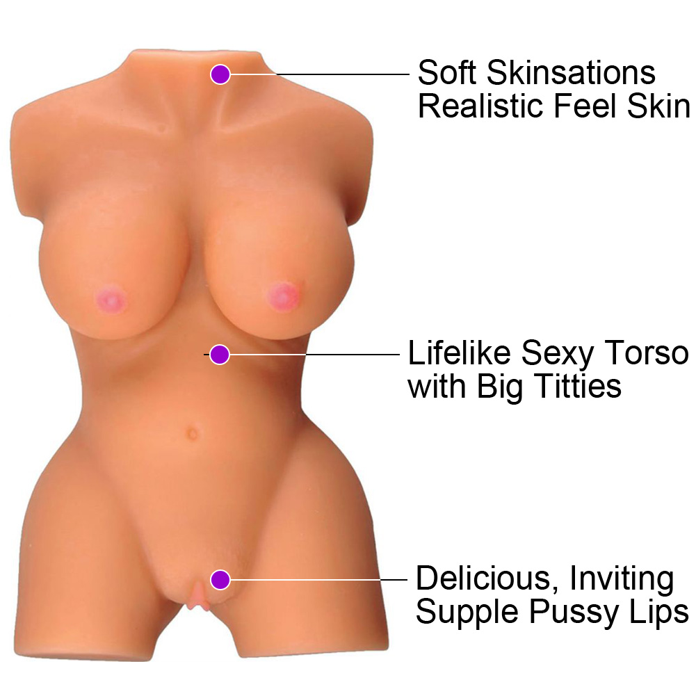 Hott Products Skinsations Latin Lover Sugar Baby Torso Pussy Stroker Brown - View #1