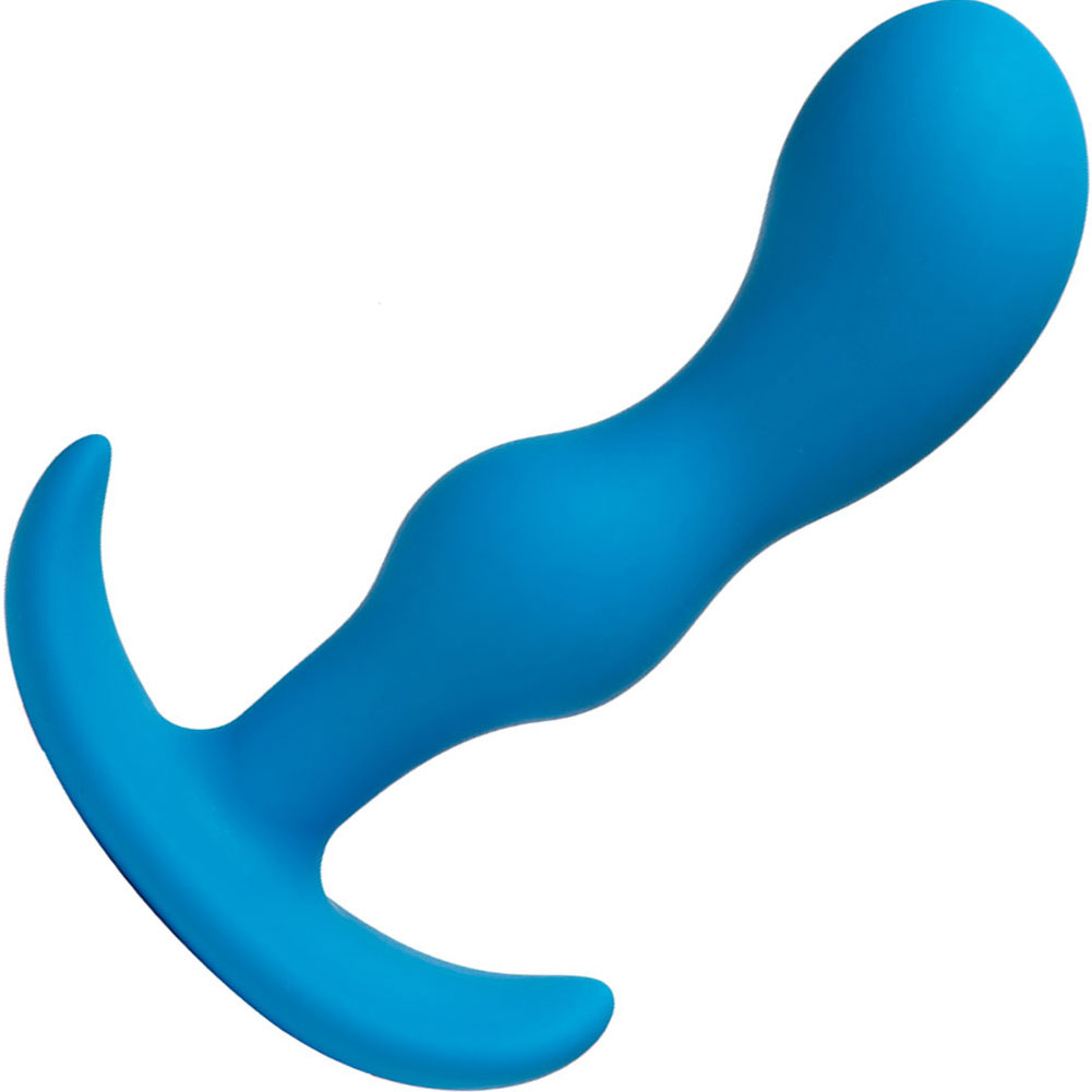"Doc Johnson Mood Naughty P-Spot Anal Plug 6"" Blue - View #2"