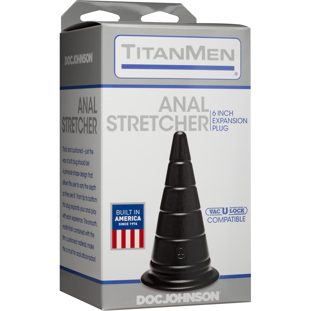 "Doc Johnson TitanMen Anal Stretcher Expansion Plug 6"" Black - View #1"