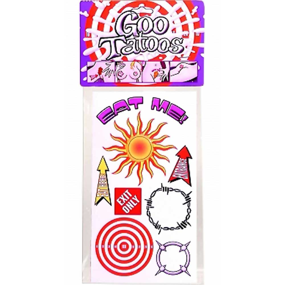 Pipedream Goo Tattoos Pack of 12 - View #1