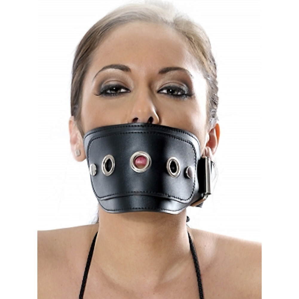 Pipedream Fetish Fantasy 3 Piece Leather Muzzle Set Black - View #3
