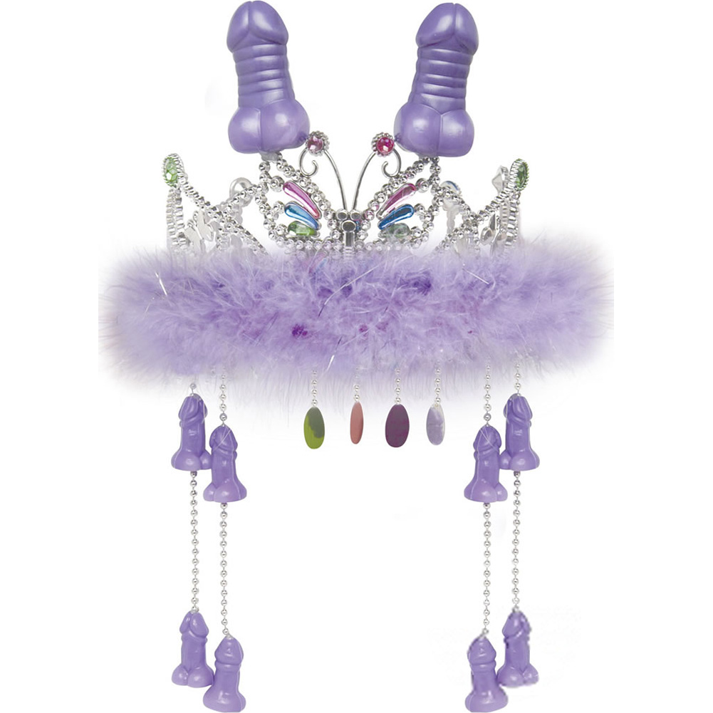 Bachelorette Party Favors Tiara with Hanging Peckers - View #2