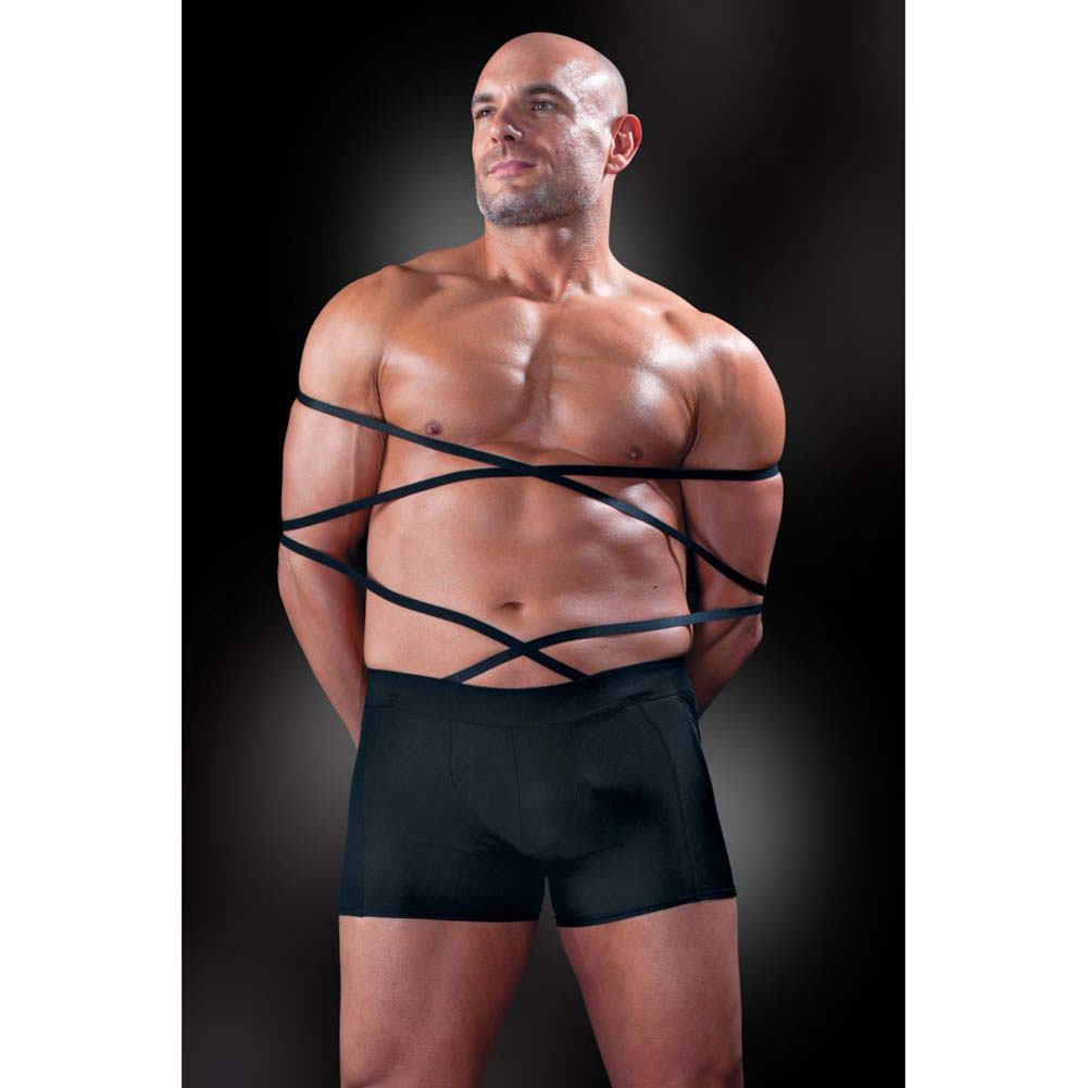 Fetish Fantasy Lingerie Tie Me Up Boxer Set for Men 2XL/3XL Black - View #3