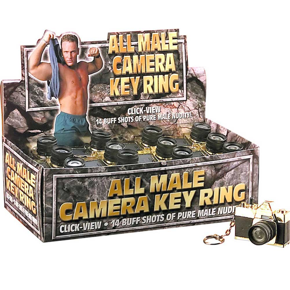 All Male Camera Keyring Counter Display by Pipedream 24 Count - View #1