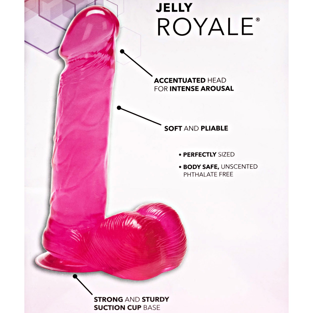"CalExotics Jelly Royale Suction Cup Dong 6"" Hot Pink - View #1"