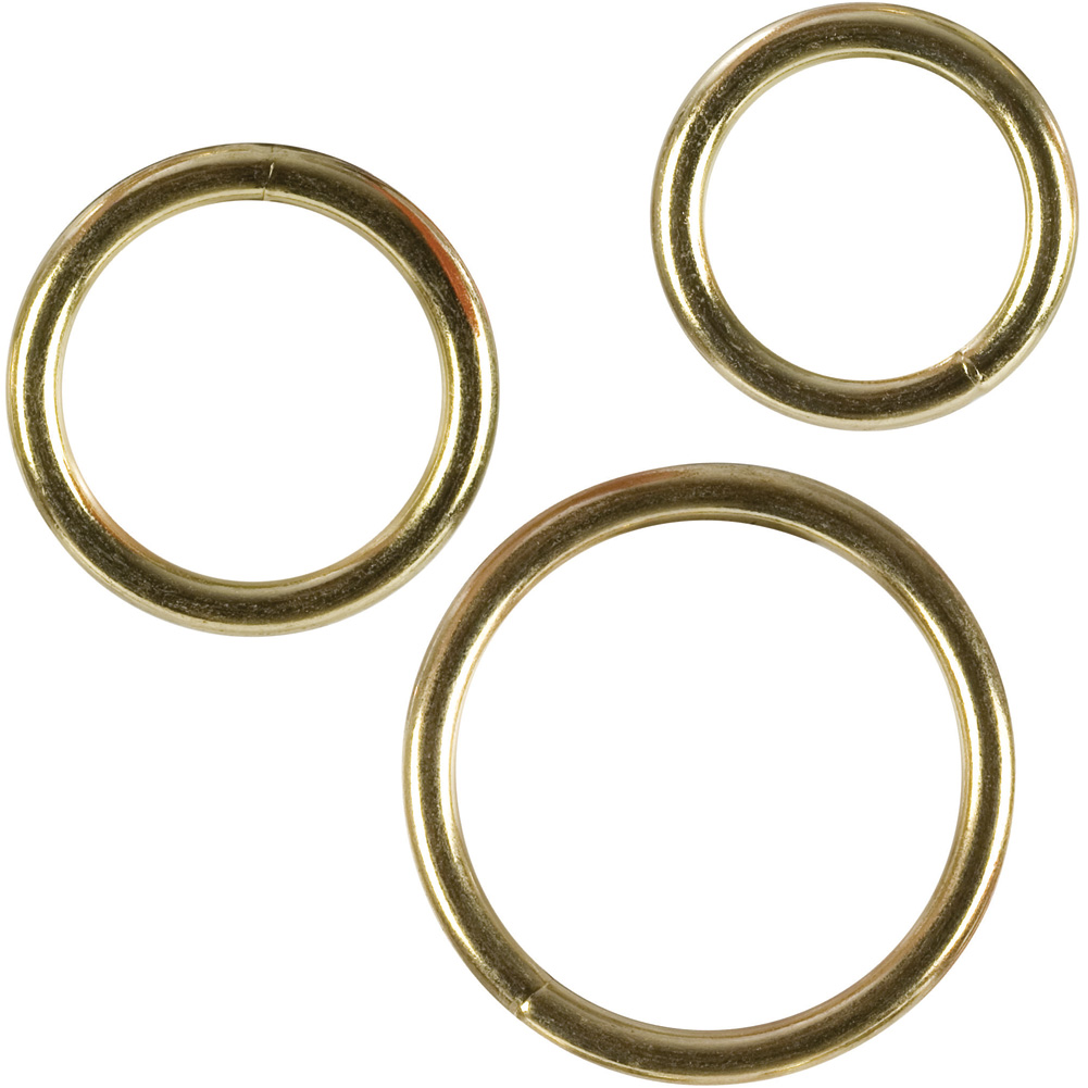 CalExotics Gold Cock Rings Pack of 3 - View #2