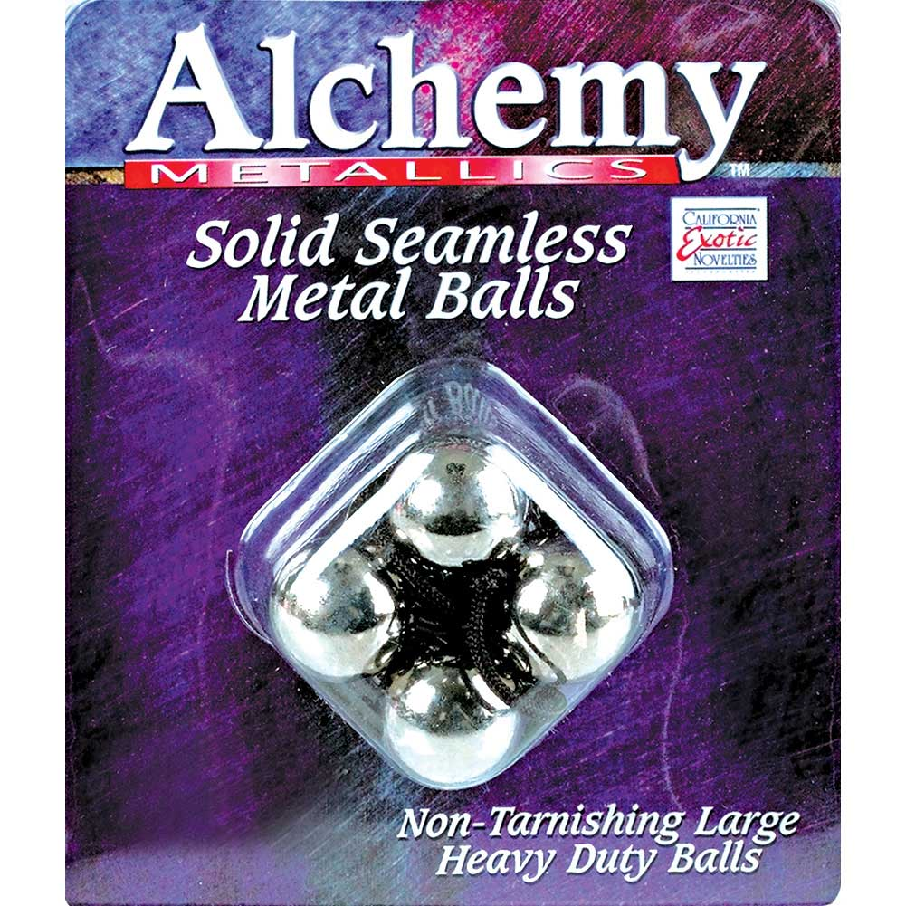 CalExotics Alchemy Metallics Solid Seamless Kegel Balls Silver - View #1