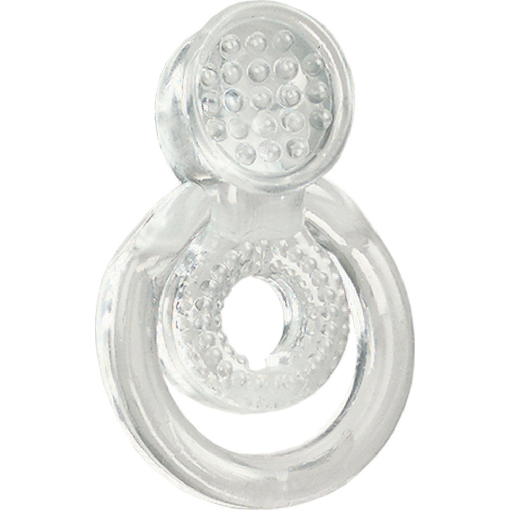 CalExotics Intimate Relationship Enhancer Cock and Ball Ring Crystal Clear - View #2