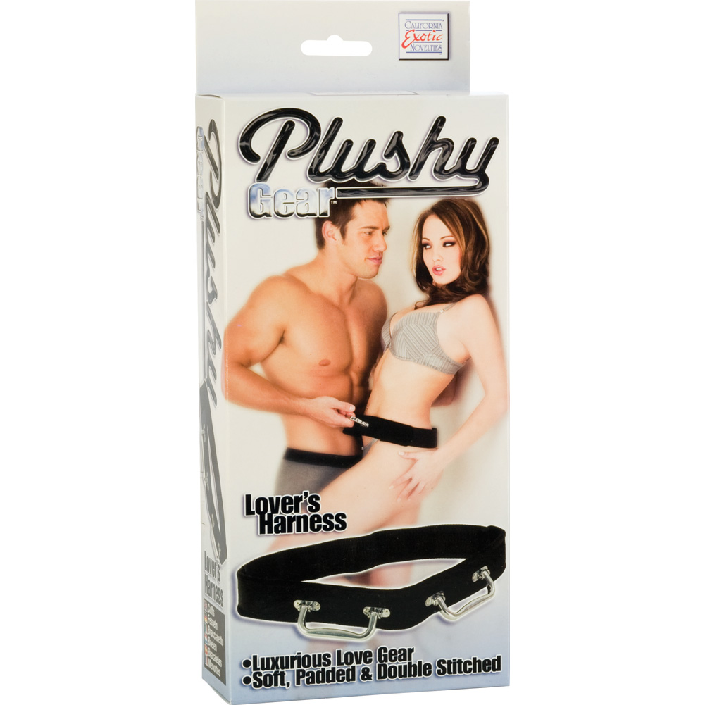 Plushy Gear Lovers Harness by CalExotics One Size Black - View #3