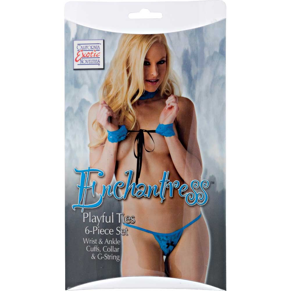 Enchantress Playful Ties 6 Piece Set by CalExotics One Size Blue - View #1