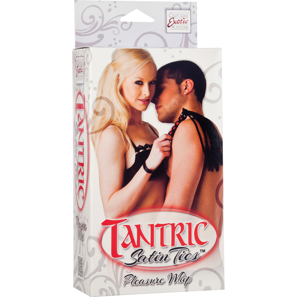 "Tantric Satin Ties Pleasure Whip by CalExotics 11.5"" Red/Black - View #1"