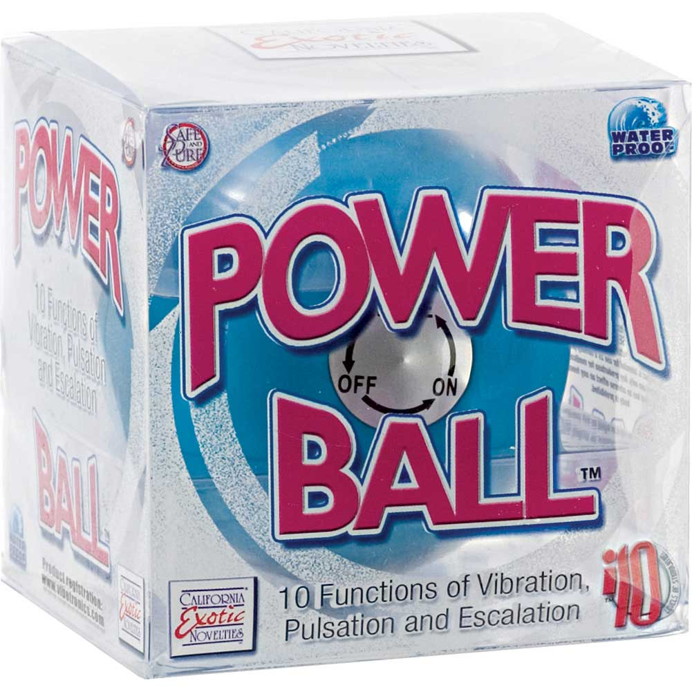 "Power Ball 10 Function Massager by CalExotics 2.5"" Blue - View #3"