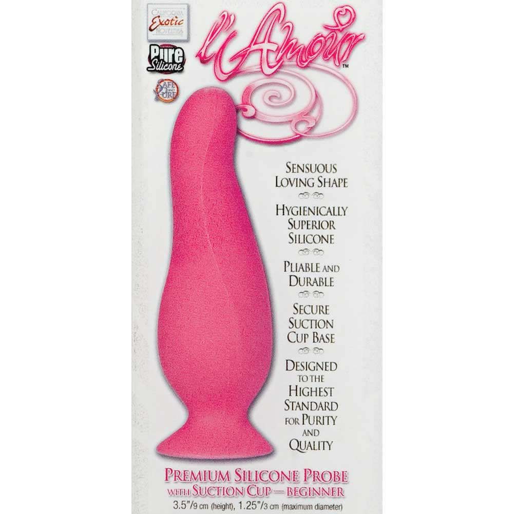 "LAmour Premium Silicone Anal Beginner Probe by CalExotics 3.5"" Pink - View #1"