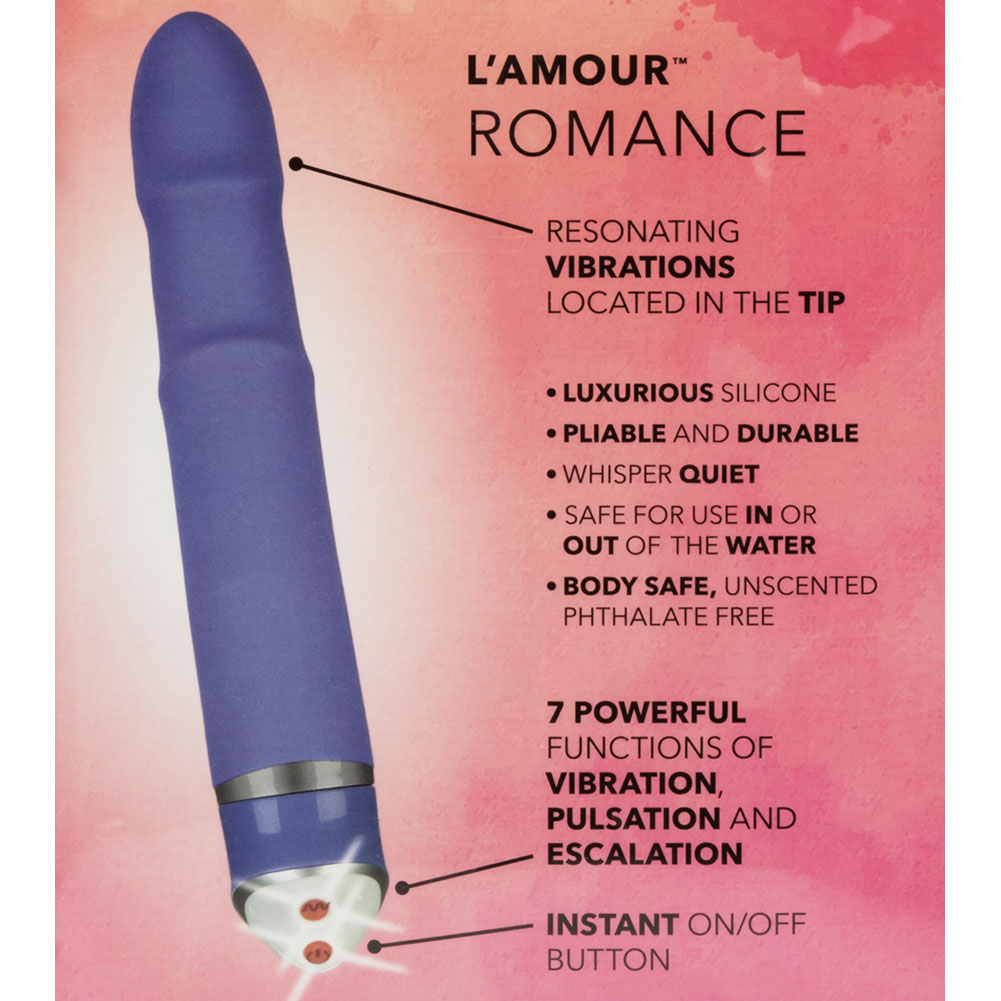 "LAmour Romance Premium Silicone Massager by CalExotics 6.75"" Purple - View #1"
