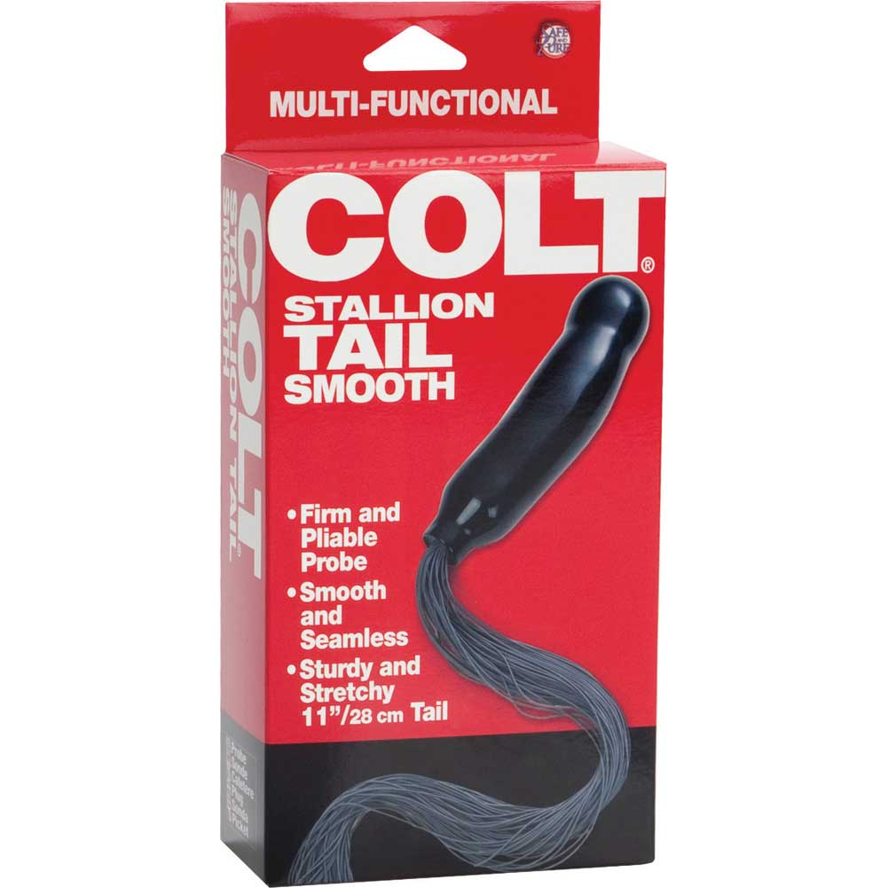 "COLT Stallion Tail by CalExotics 6.5"" Black - View #3"