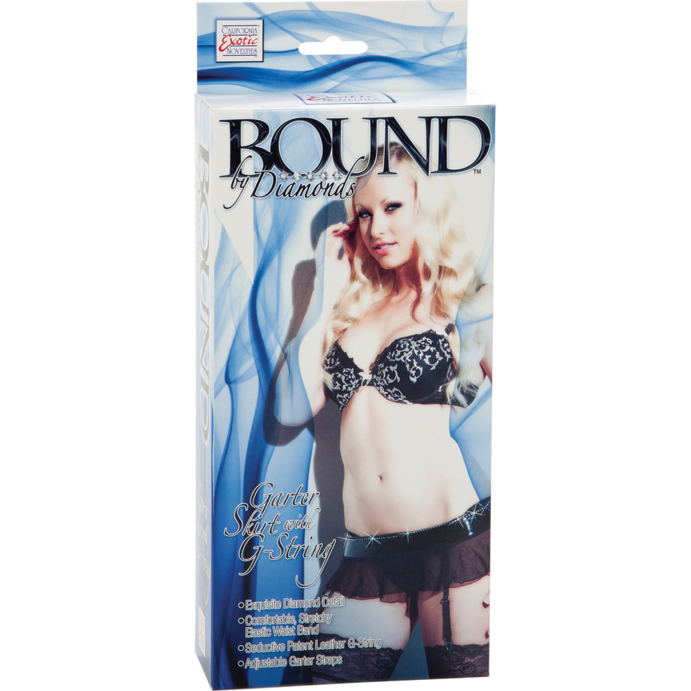 Bound by Diamonds Garter Skirt with G-String by CalExotics One Size Black - View #2