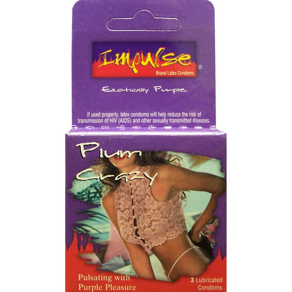 Topcat Impulse Plum Crazy Plum Flavored Lubricated Condoms Pack of 3 - View #1