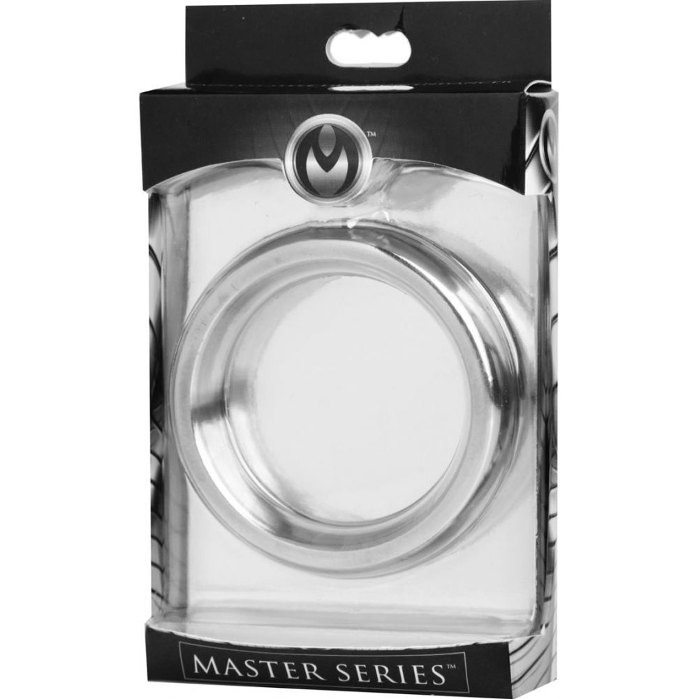 "XR Brands Master Series Donut Cock Ring 2"" Silver - View #1"