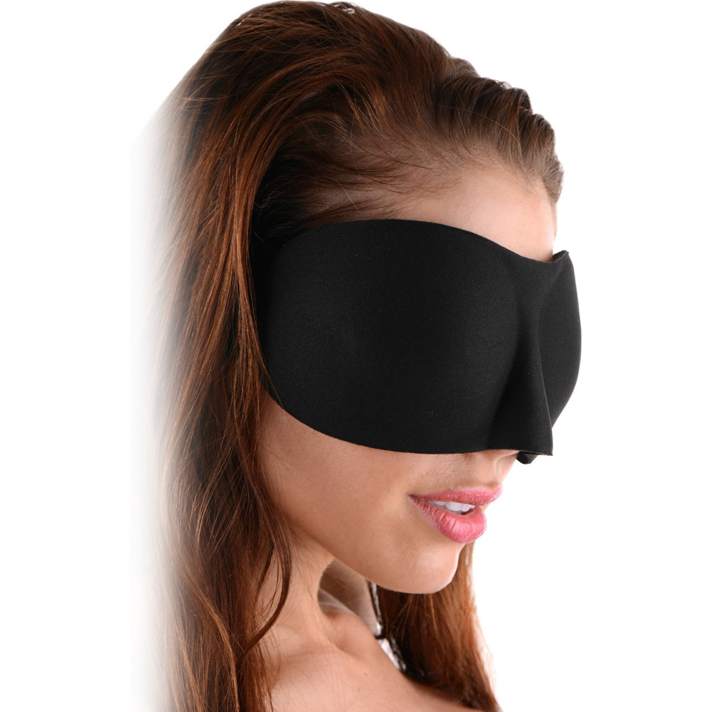 Frisky Deluxe Black Out Blindfold Black - View #1