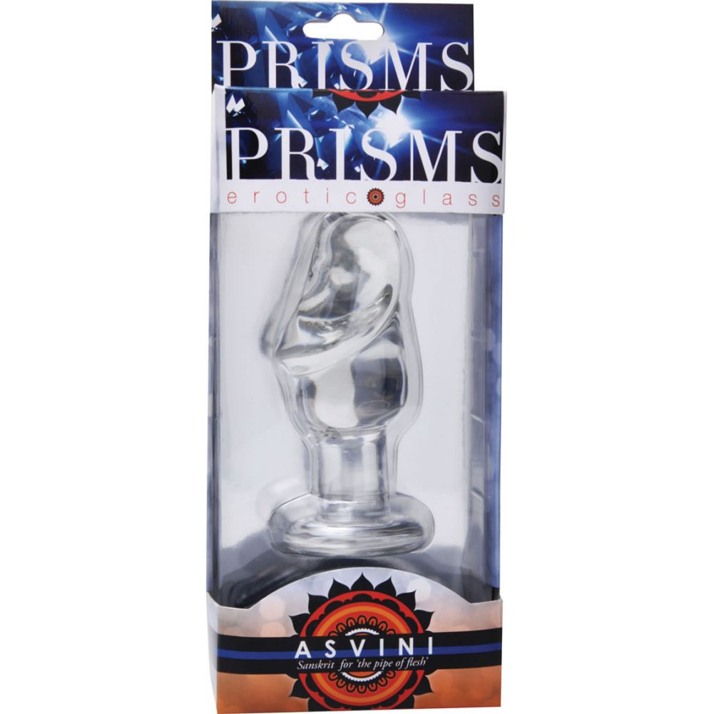Prisms Asvini Glass Penis Anal Plug Clear - View #1