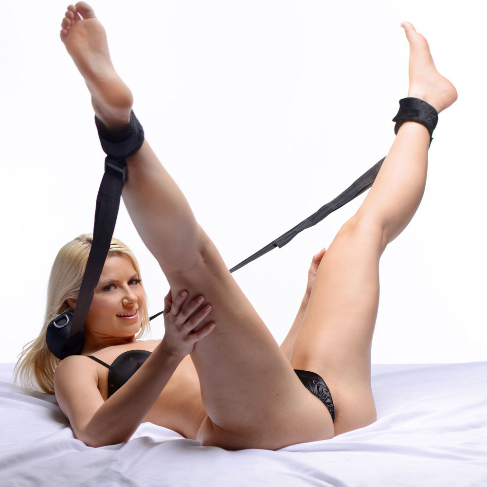 Spread Me Leg Strap Positioning Aid with Ankle Cuffs - View #1