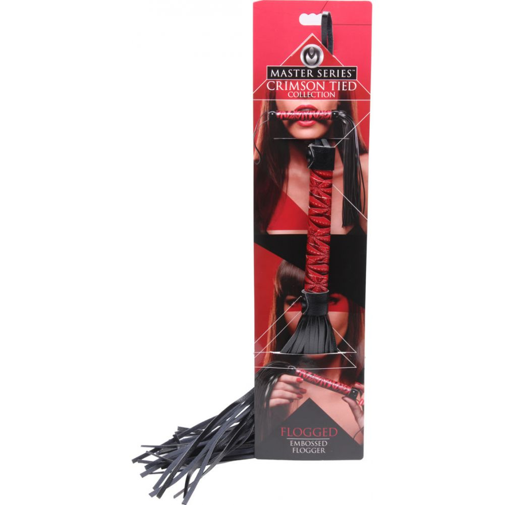 "Master Series Embossed Flogger Red 20"" - View #3"