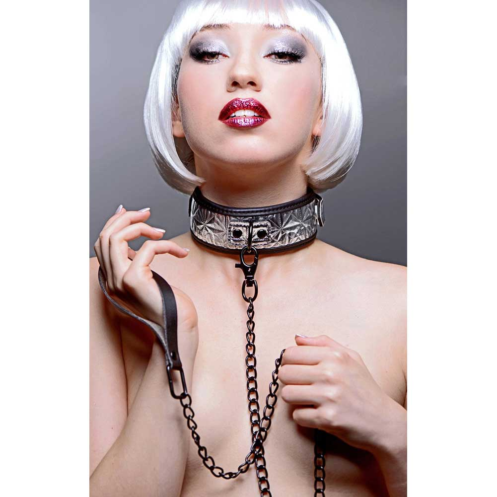 Master Series Chained Collar and Leash Silver - View #1