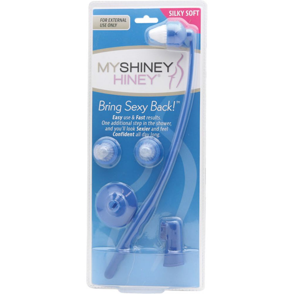 My Shiney Hiney Silky Soft Bristle Cleaning Kit Blue - View #1