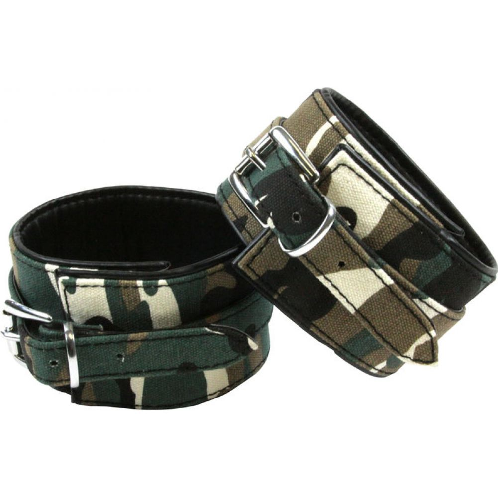 NS Novelties Kinky Camo Adjustable Wrist Cuffs - View #2