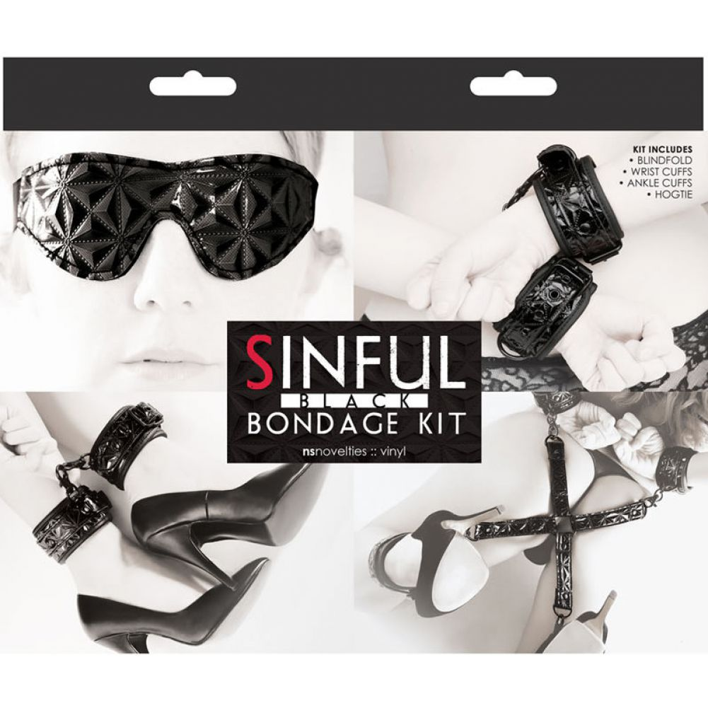NS Novelties Sinful Bondage Kit Black - View #1
