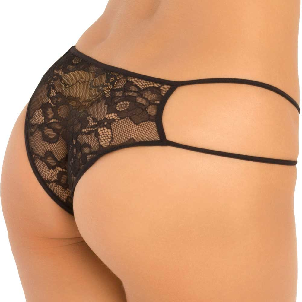 Rene Rofe Stage Door Lace Teddy Medium/ Large Black - View #4