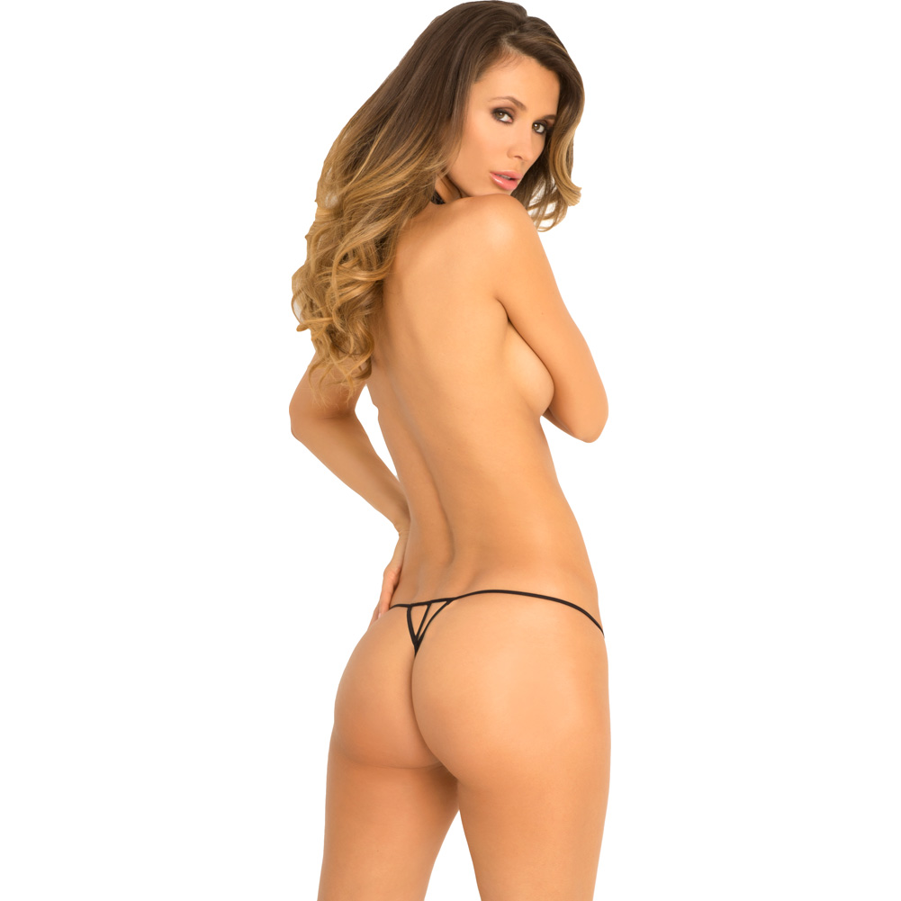 Rene Rofe Bedroom Ready Harness and Crotchless G-String Set Small/Medium Black - View #2