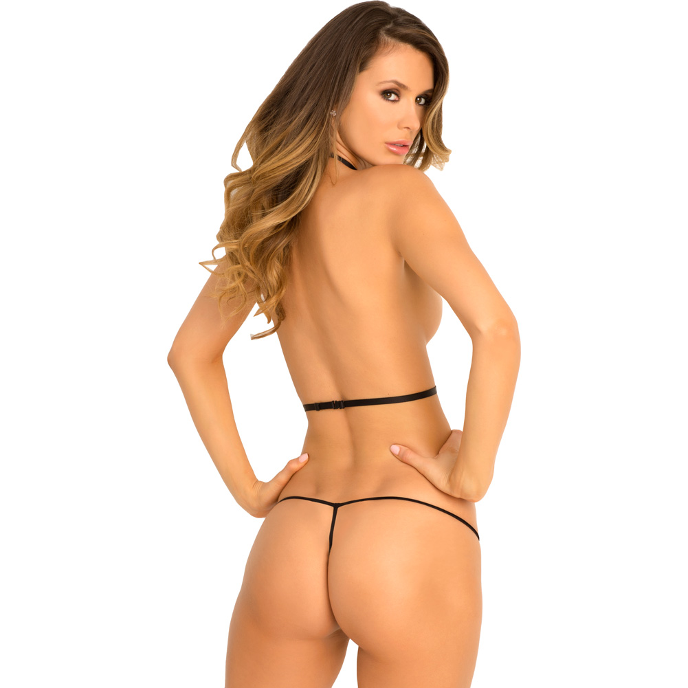 Rene Rofe Strictly Strings Harness and G-String One Size Fits Most Black - View #2