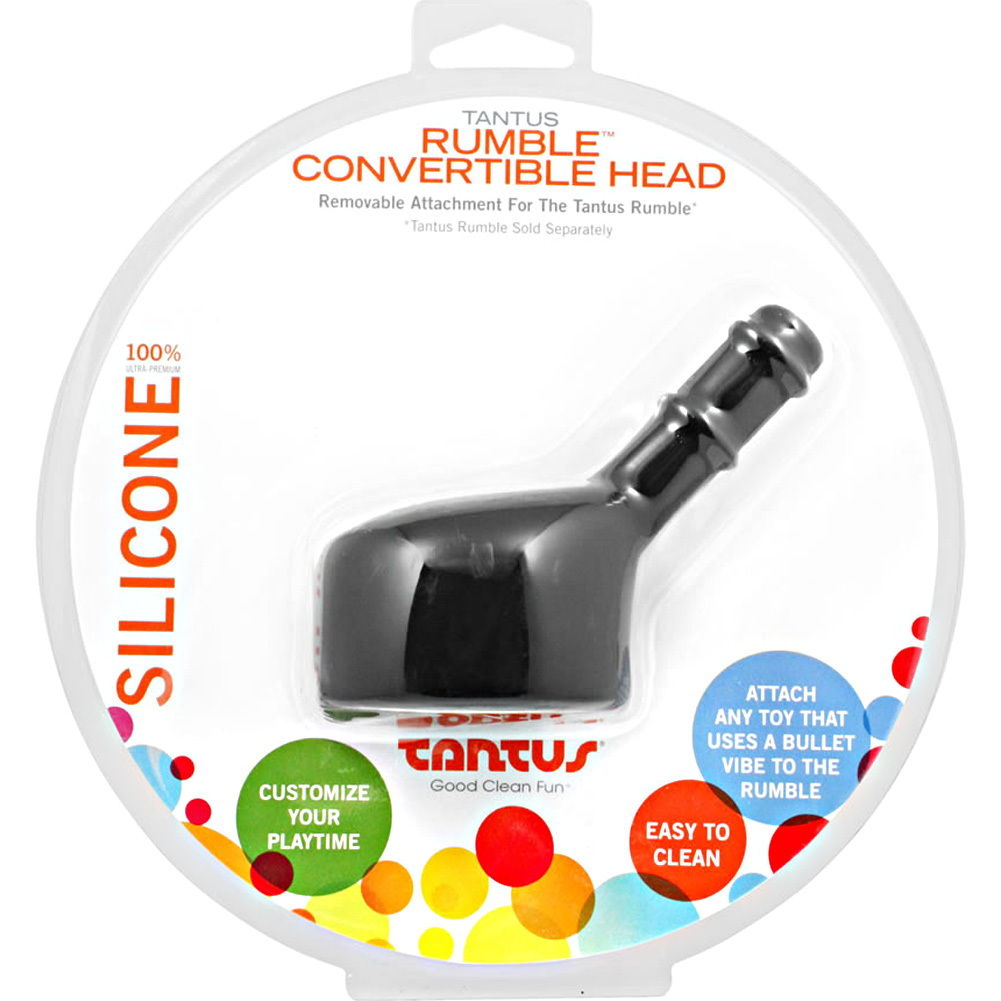 Tantus Silicone Convertible Rumble Head Black - View #1