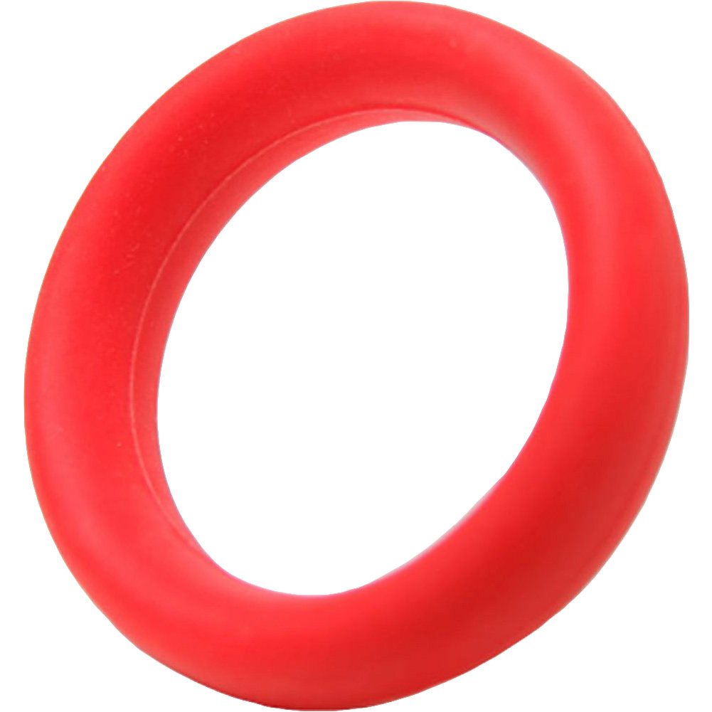 Tantus Beginner Cock Ring Silicone Waterproof Red - View #2