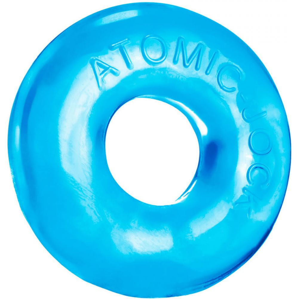 OxBalls Donut 2 Atomic Jock Large Cockring Ice Blue - View #2