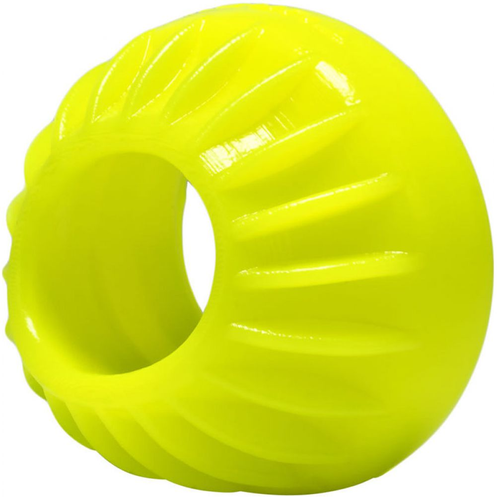 "Oxballs Turbine Silicone Cockring 1.75"" Acid Yellow - View #1"