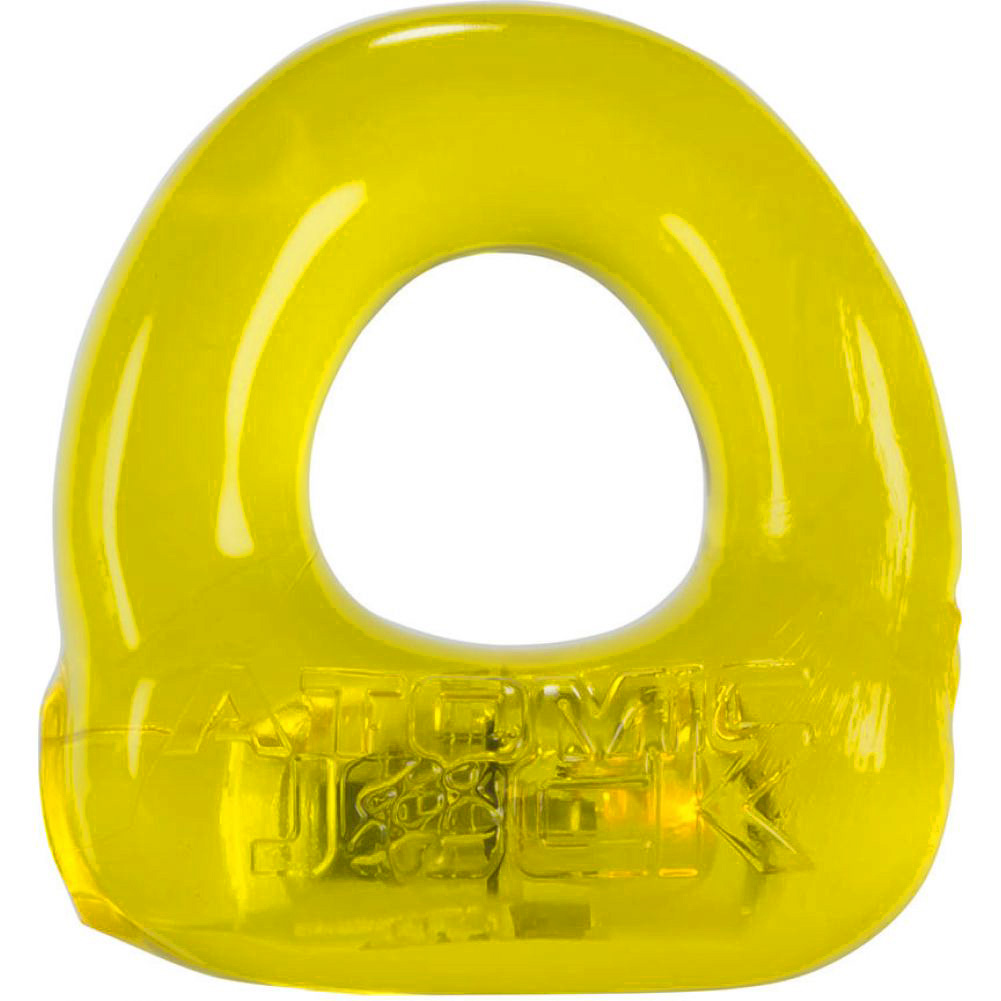 OxBalls Atomic Jock Lumo Stretch Light Up Cockring Yellow - View #3