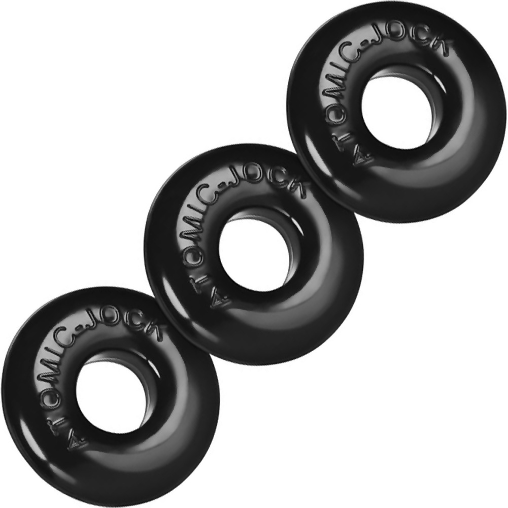 OxBalls Ringer Cockrings Pack of 3 Black - View #2