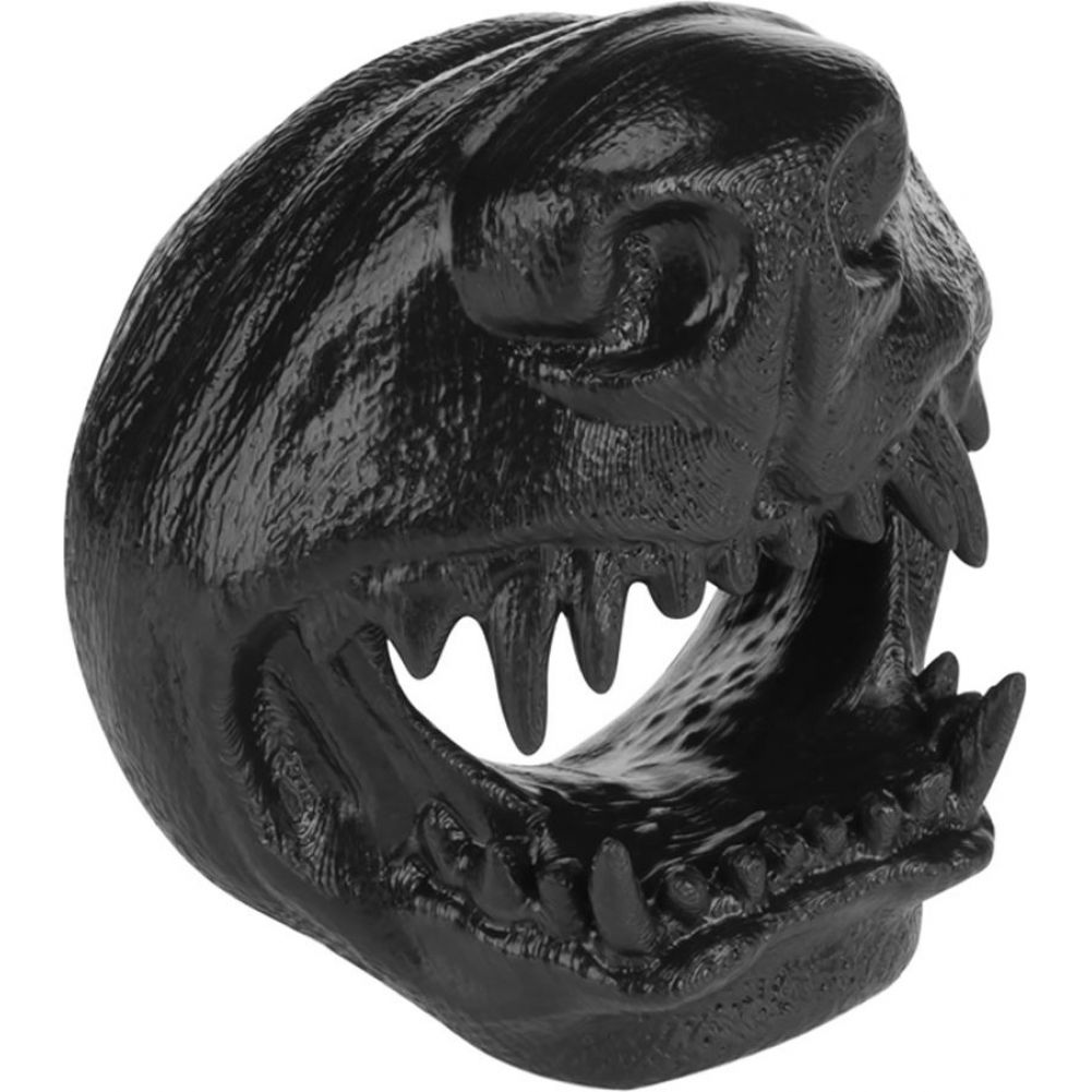 Oxballs Snarl Angry Dog Silicone Cockring Black - View #1
