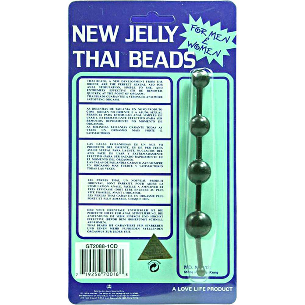 Golden Triangle New Jelly Thai Beads Black - View #1