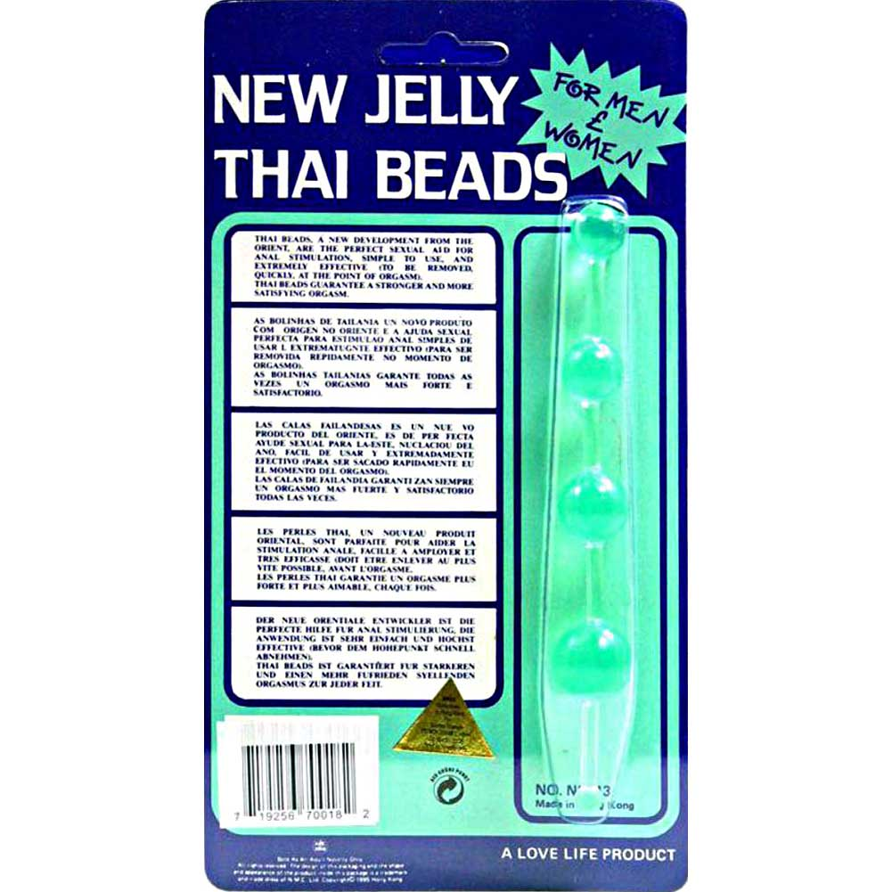 Golden Triangle Jelly Thai Anal Beads Green - View #1