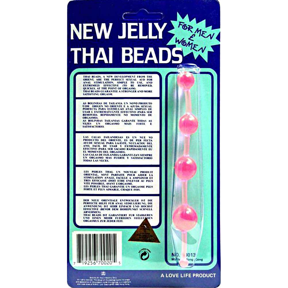 Golden Triangle Jelly Thai Anal Beads Pink - View #1