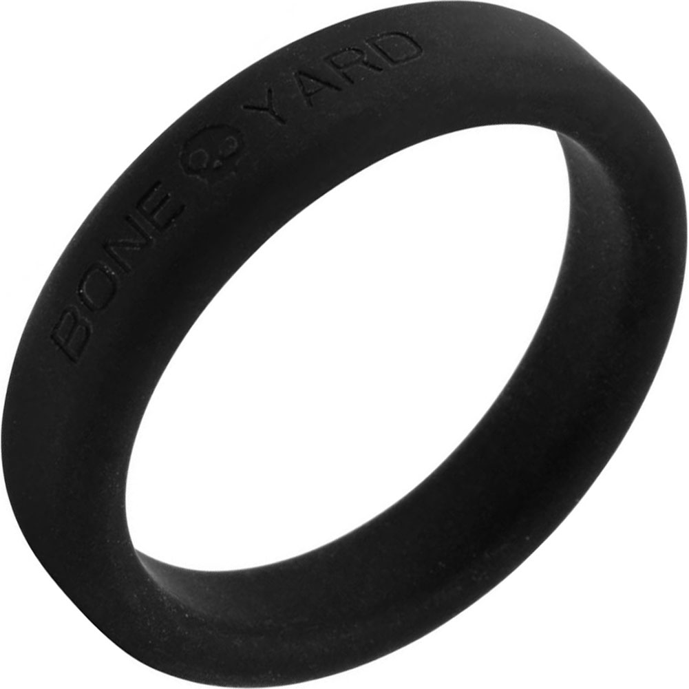"Rascal Bone Yard Silicone Cockring Black 2"" Diameter - View #2"
